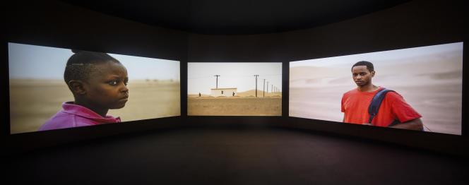 Pavillon du Ghana, 58e Biennale de Venise, œuvre de John Akomfrah.