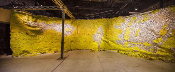 Pavillon du Ghana, 58e Biennale de Venise, œuvre d'El-Anatsui.