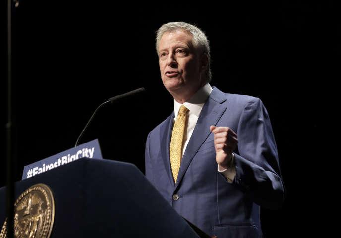 Le maire de New York, Bill de Blasio, le 10 janvier.