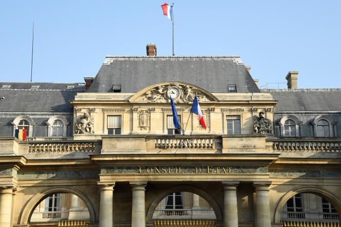 La façade du Conseil d'Etat, à Paris, en octobre 2018.