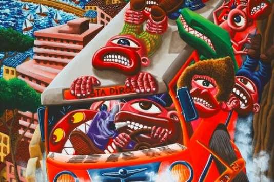 L'exposition «Hervé di Rosa, peintures, peinture (1978-2018)» au Touquet (Pas-de-Calais).