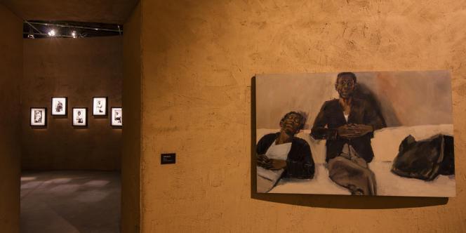 Pavillon du Ghana, 58e Biennale de Venise, œuvre de Lynette Yiadom-Boakye.