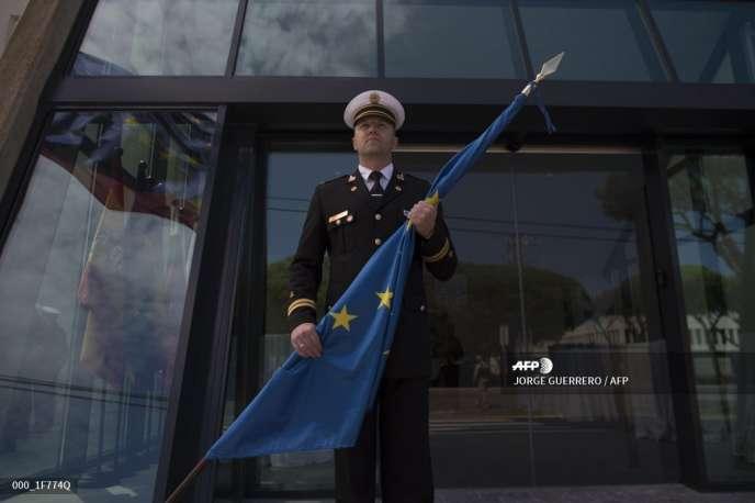 Inauguration du nouveau siège de la force européenne « Atalante» sur la base de La Rota, près de Cadix, en Espagne, le 26 mars.