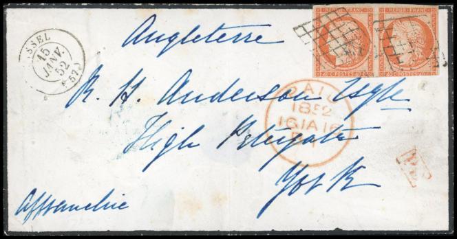 Rare lettre de 1852, 60 000 euros.