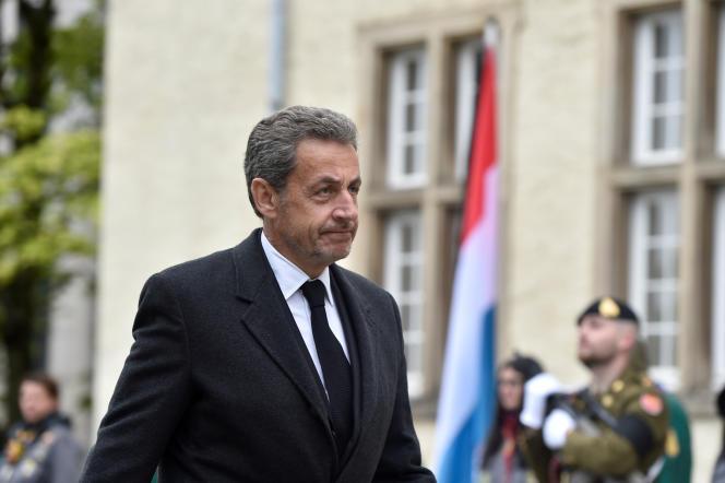 Nicolas Sarkozy en visite au Luxembourg, le 4 mai.