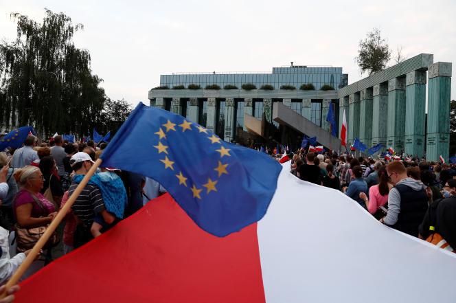 Manifestation à Varsovie, le 21 juin 2017.