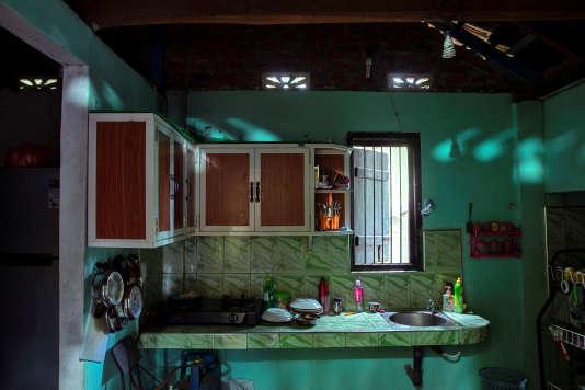 La cuisine de Verlini Suranga, 35 ans, à Batticaloa, le 5 mai. Elle a perdu la vie avec son mari et son neveu lors des attentats du 21 avril.
