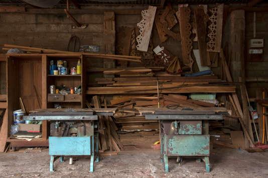 L'atelier de Dulip Kumar, menuisier de 46 ans, tué à Negombo.