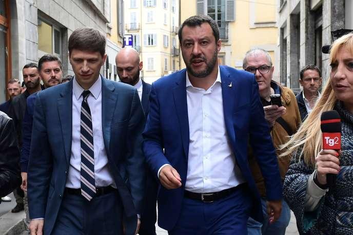 Le chef de la Ligue (extrême droite italienne), Matteo Salvini, à Milan, vendredi 17 mai.