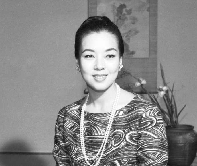 L'actrice japonaise Machiko Kyo, en décembre 1963.