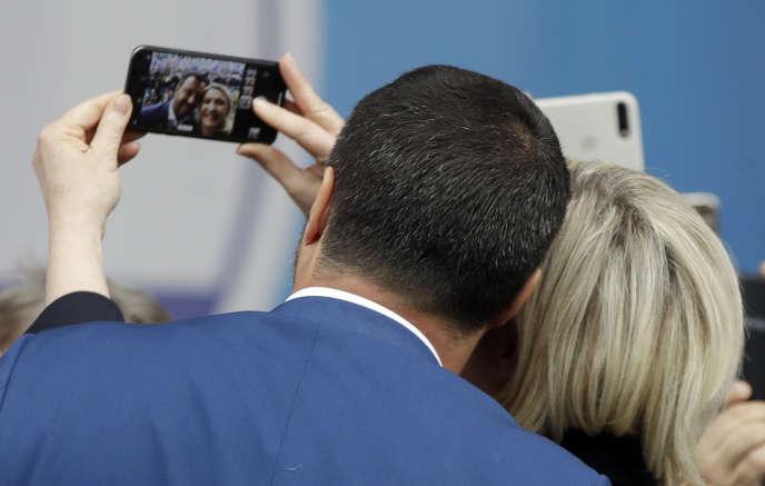Matteo Salvini et Marine Le Pen, le 18 mai à Milan.