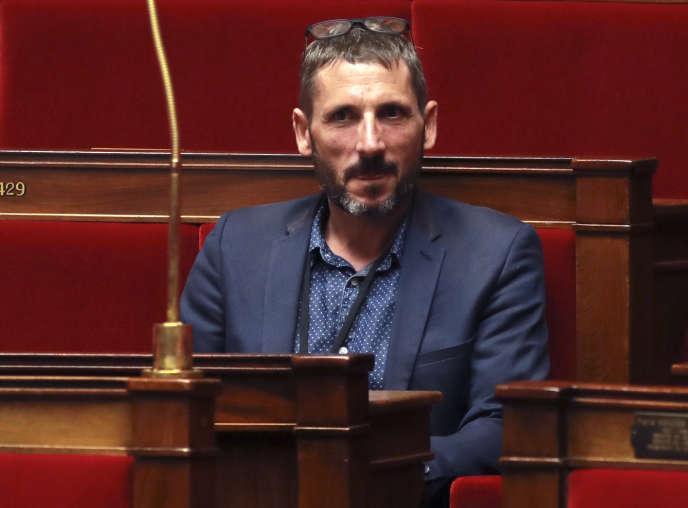 Matthieu Orphelin au Parlement, le 27 juillet 2017.