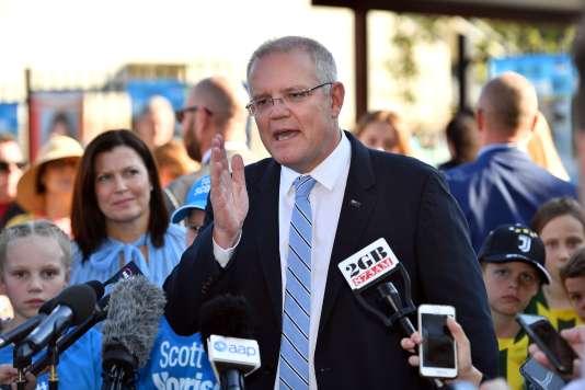 Le premier ministre australien, Scott Morrison, samedi 18 mai, à Sydney.