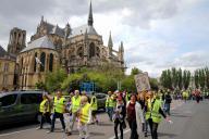 Manifestation pour l'acte XXVII des « gilets jaunes», le 18 mai, à Reims.
