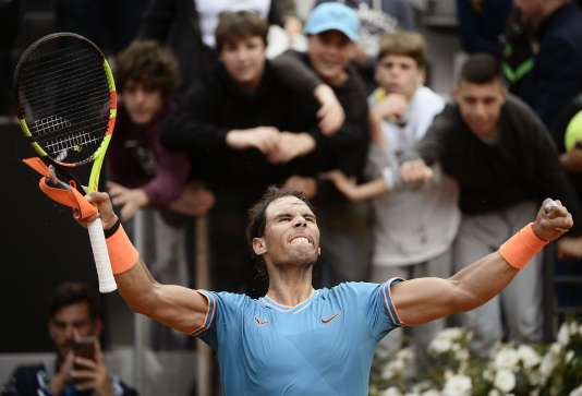 Rafael Nadal, le 18 mai, à Rome.