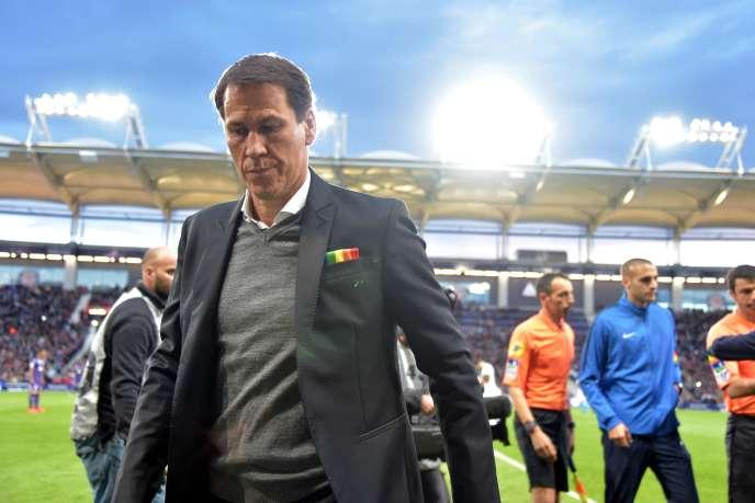 Rudi Garcia, l'entraîneur de Marseille, lors d'un match contre Toulouse le 18 mai 2019.