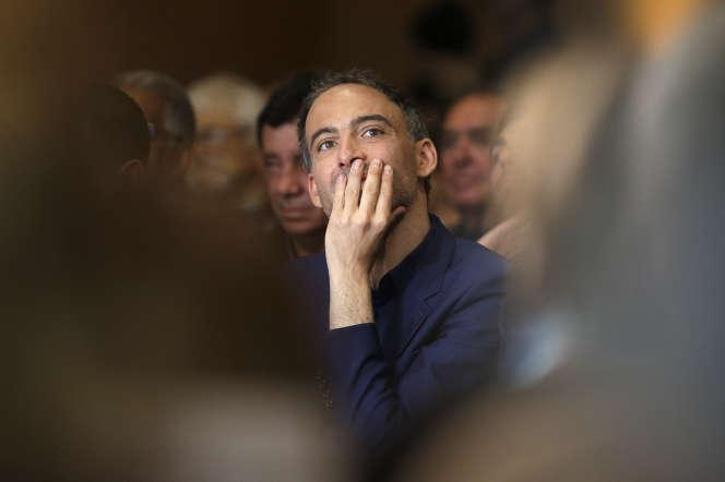Raphaël Glucksmann, lors d'un meeting de campagne à Marseille, le 17 mai.