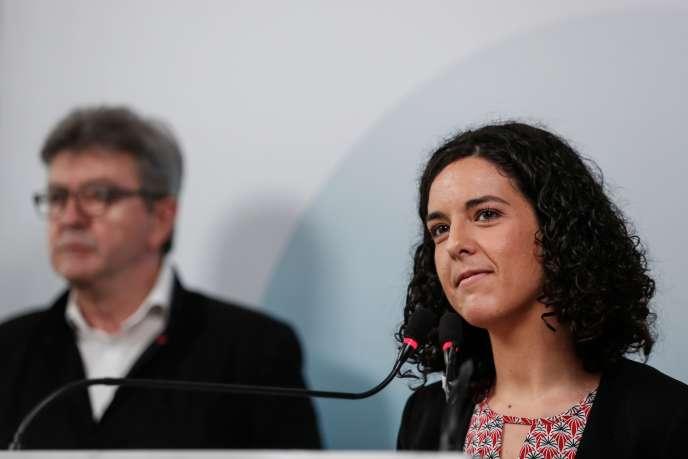 Jean-Luc Melenchon et Manon Aubry, à Paris, le 19 mai 2019.
