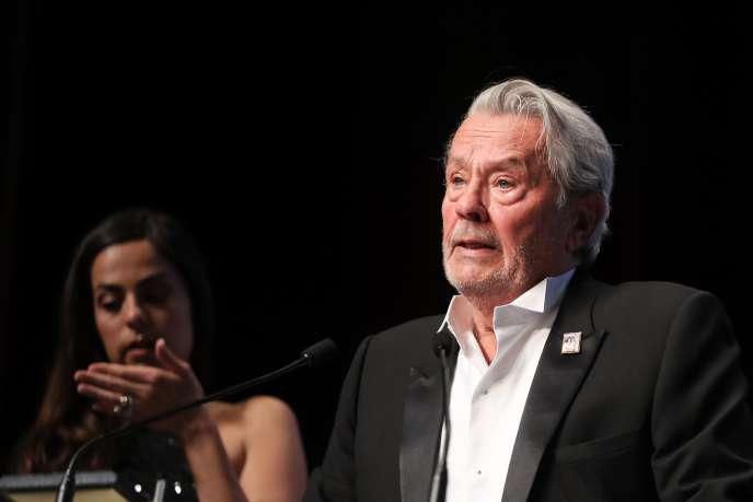 Alain Delon et sa filleAnouchka, à Cannes, le 19 mai 2019.