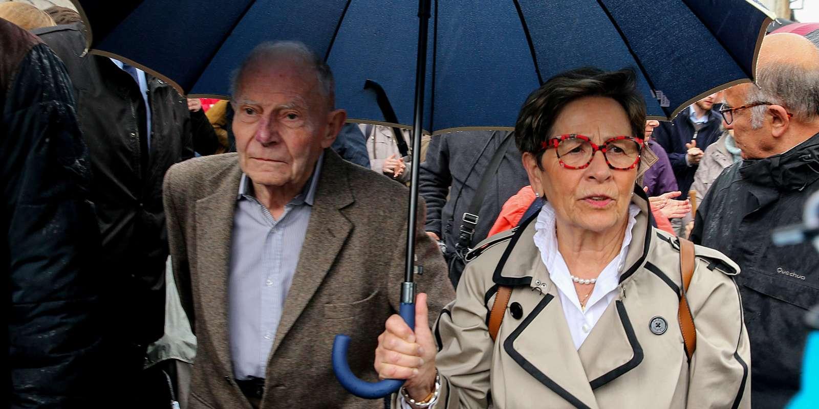 Les parents de Vincent Lambert, à Reims, dimanche19mai 2019. Ils s'opposent à l'arrêt des traitements de leur fils, dans un état végétatif chronique depuis 2008.