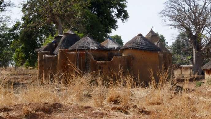 Des« tata somba», maisons rondes traditionnelles d'un village dans le nord du Bénin, en 2018.