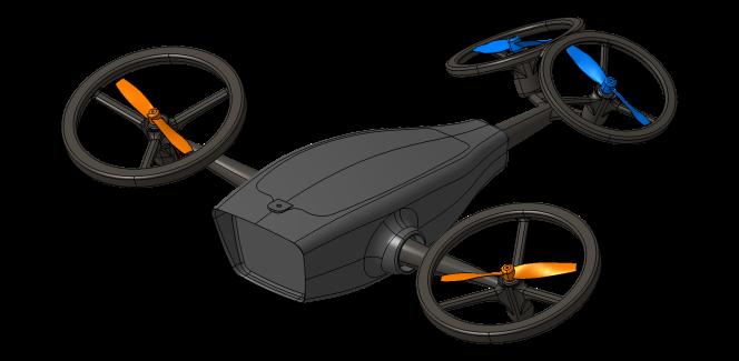Le drone développé dans le cadre du projet «NARcOTic» de l'ISAE-Supaero.