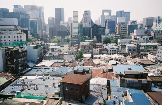 Vue depuis la Seoul Tower.