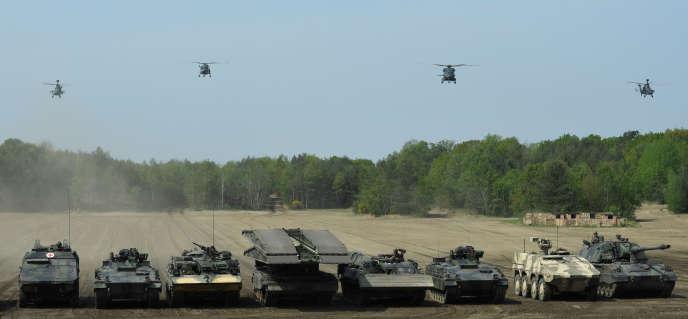 Lors d'un exercice de laforce « fer de lance » de l'OTAN, le 20 mai à Munster.
