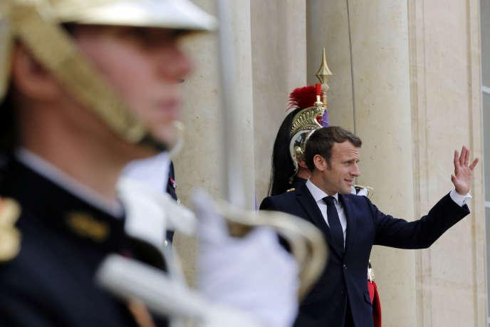 Emmanuel Macron, à l'Elysée, le 20 mai.