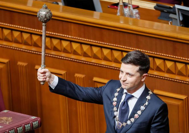 Volodymyr Zelensky a été investi président de l'Ukraine lundi 20 mai.
