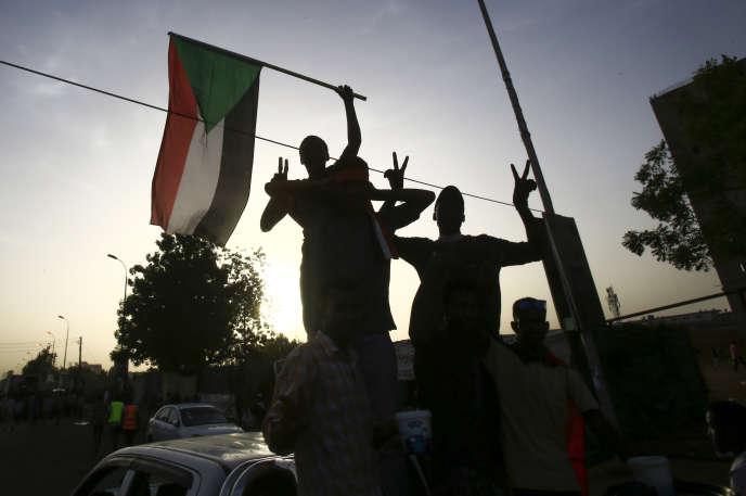 Manifestation à Khartoum, le 19 mai 2019, pour une transition politique vers la démocratie.