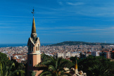 Vue de Barcelone, la capitale catalane, depuis le parc Guell.