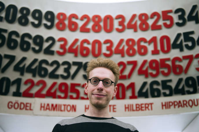 The writer, essayist and autistic British scientist Daniel Tammet, on March 14, 2013, at the Palais de la découverte, in Paris, as part of the first day of pi.