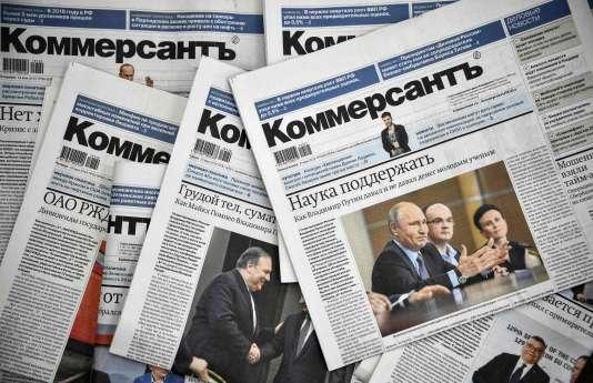 Onze journalistes du service politique de «Kommersant» ont démissionnéen solidarité avec les deux reporters Maxime Ivanov et Ivan Safronov.
