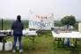 Rassemblement en opposition au projet d'Europacity à Gonesse (Val-d'Oise), le 19 mai.