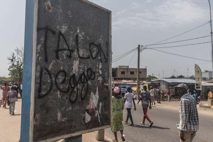 A Cotonou en mars 2019, avant les législatives du 28 avril, à l'issue desquelles le parti de Patrice Talon a raflé la totalité des sièges du Parlement béninois.