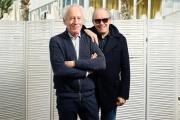 Jean-Pierre (à gauche) et Luc Dardenne sur la plage du Majestic à Cannes, le 20 mai.