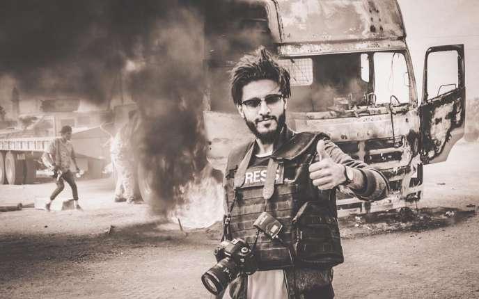 Photo envoyée parMohamedAl-Gorj sur What's App, prise sur le front d'Aziziyah, fin avril.