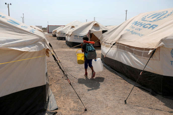 Un enfant vénézuélien dans un camp de réfugiés géré par le HCR en Colombie, le 7 mai 2019.