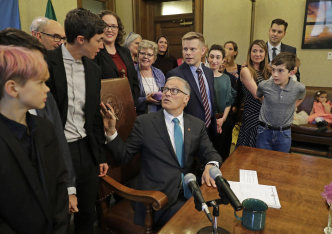 Le gouverneur de l'Etat de Washington, Jay Inslee, est candidat à l'élection présidentielle de 2020 sur un programme misant beaucoup sur l'écologie.