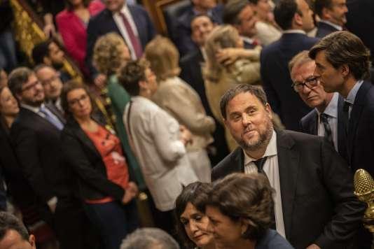 Oriol Junqueras est candidat aux élections européennes à la tête d'une liste qui comprend les indépendantistes basques d'Euskal Herria Bildu et les nationalistes galiciens.