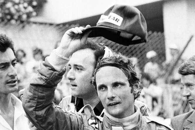 Niki Lauda, lors du grand prix de Monaco, en mai 1976.