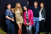 De gauche à droite : Rebecca Zlotowski, Zahia Dehar, Mina Farid, Benoît Magimel et Clotilde Courau,le 20 mai, à Cannes.