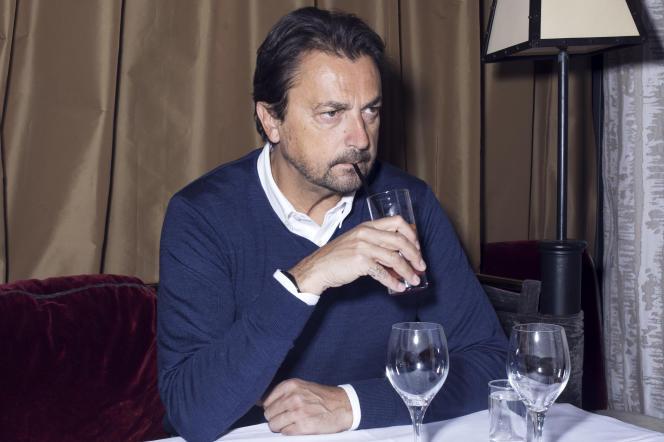 Henri Leconte au restaurant Murat, dans le 16e arrondissement de Paris, le 13 mai.