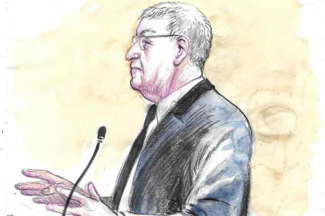 L'ex-PDg de Farnce Telecom, Didier Lombard, devant le tribunal, le 20 mai.
