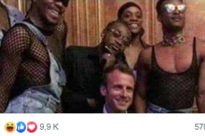 Capture d'écran d'un photomontage aux relents homophobes diffusé sur Facebook.