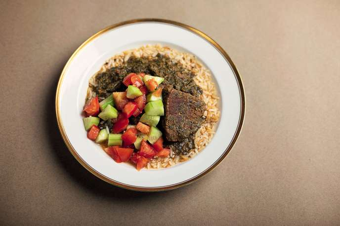 La molokheya, le ragoût égyptien.