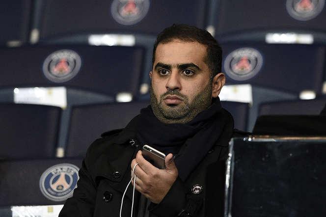 Yousef Al-Obaidly, proche du président du PSG, en 2015 au Parc des Princes.