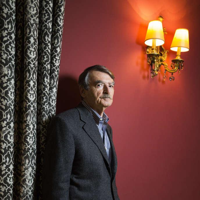 L'écrivain britannique David Lodge, à Paris, en 2016.