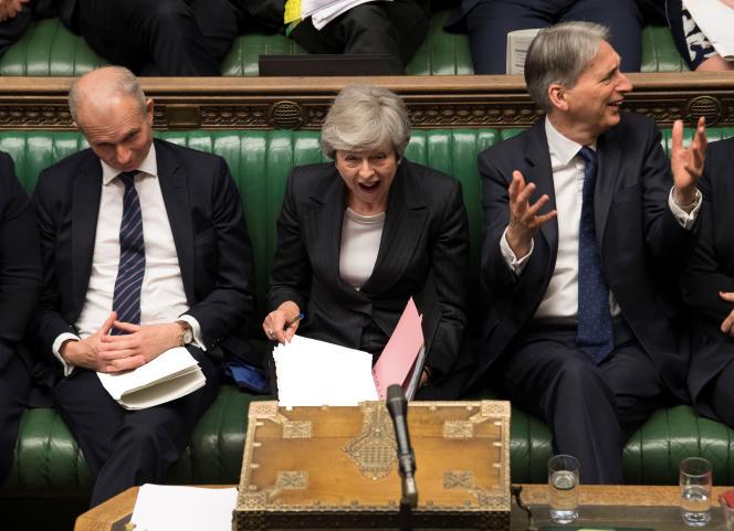 La première ministre britannique, Theresa May, au Parlement de Westminster, le 22 mai 2019.